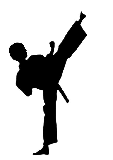 clipart free stock Karate clipart. Draw silhouette art clip.