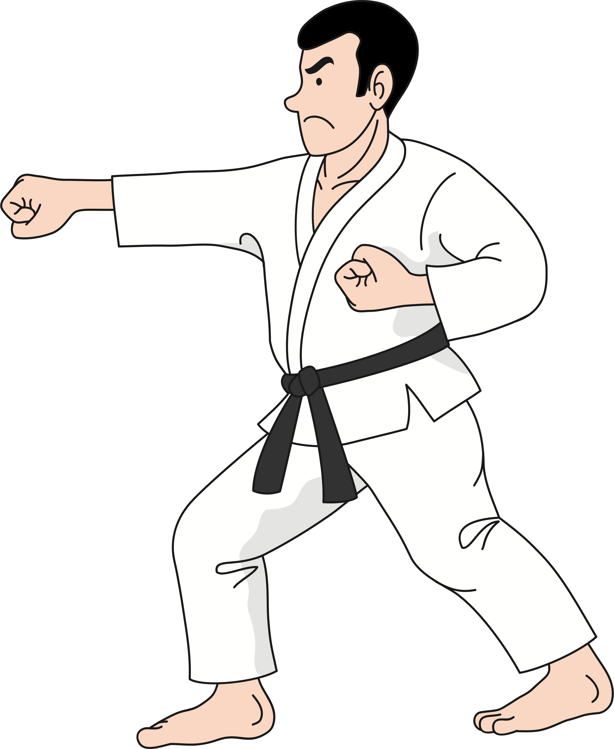 black and white library Karate clipart. Practice big image png.