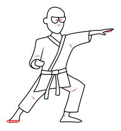 clipart A cartoon man . Karate drawing