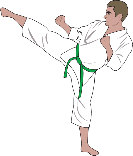 clip art black and white download Clipartfort people sports karate. Martial arts clipart green belt.