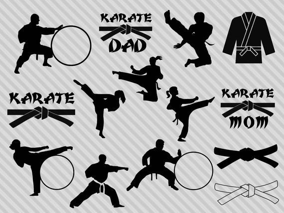jpg Bundle monogram frame martial. Karate clipart svg.