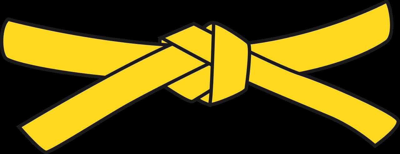 jpg freeuse Karate clipart svg. Belt px judo yellow.
