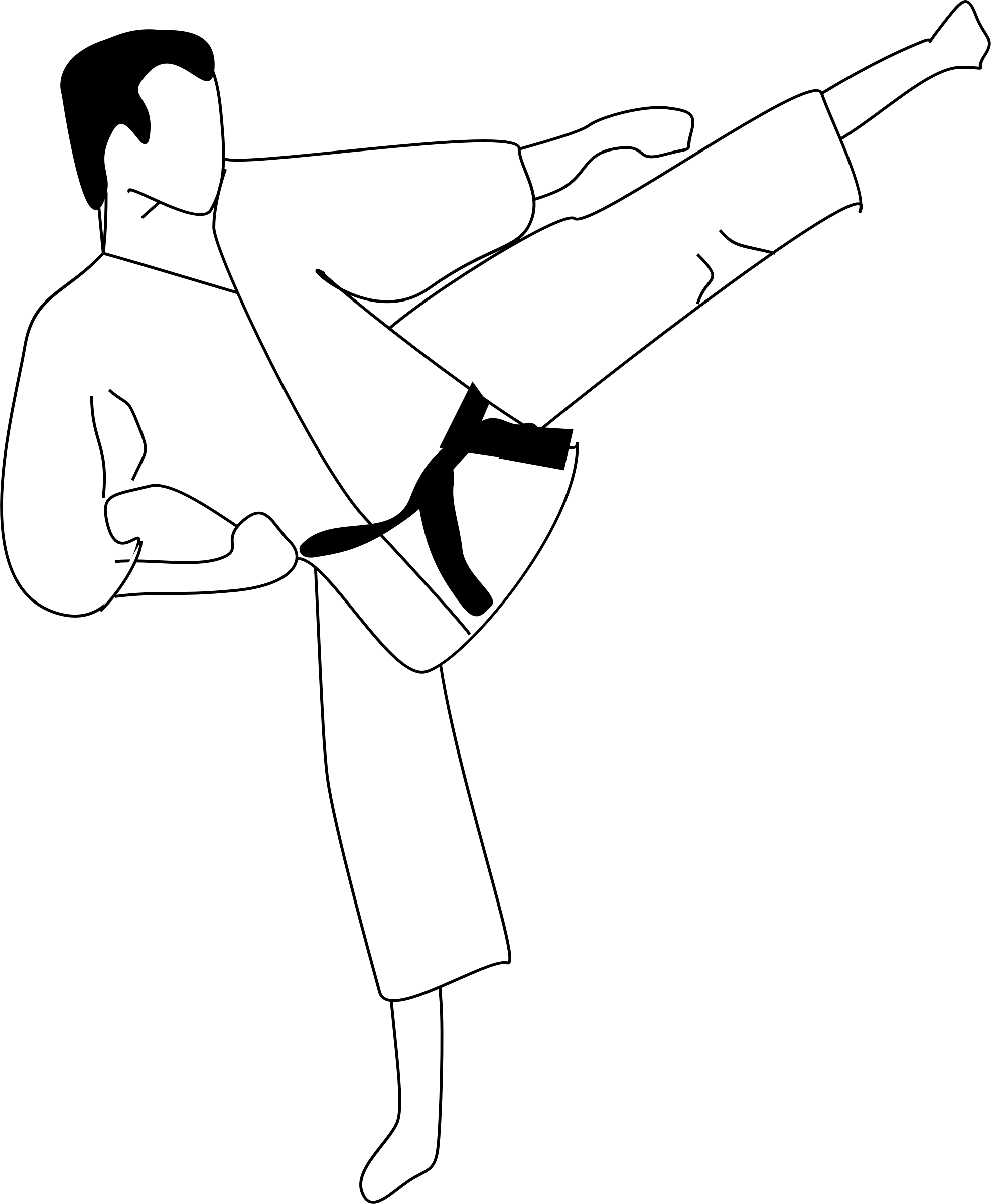 svg stock Karate kick clipart. Big image png.
