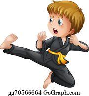 jpg freeuse Clip art royalty free. Karate kid clipart