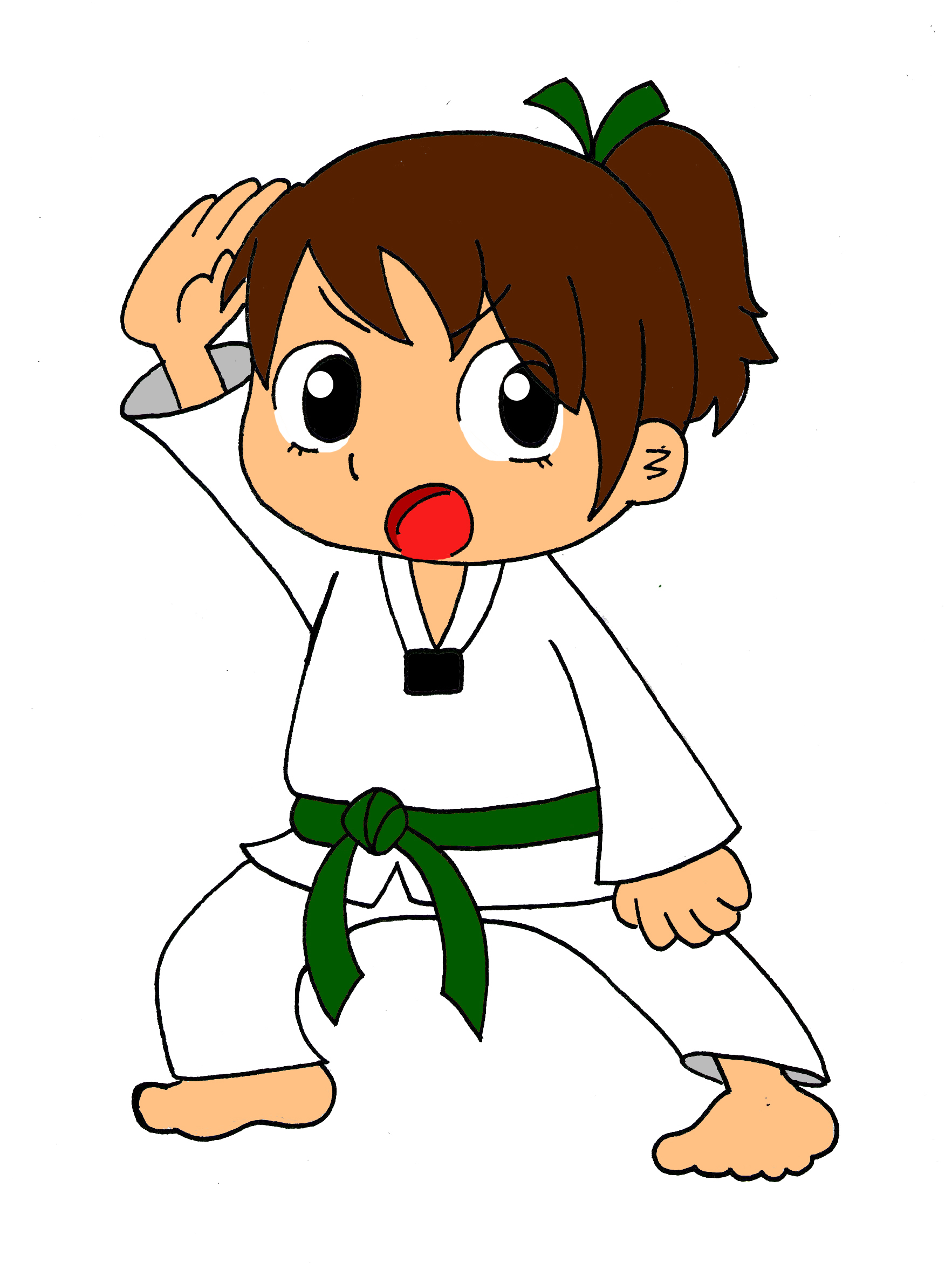 banner black and white library Clip art library . Karate kid clipart