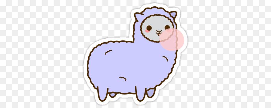 jpg library library Kawaii clipart alpaca. Alpacas sticker