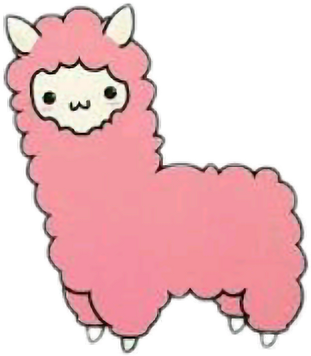 vector library stock Llama sticker by vixellaedits. Kawaii clipart alpaca