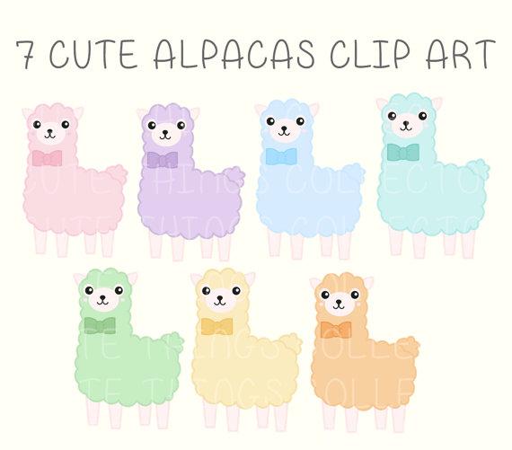 clip black and white stock Cute clip art panda. Kawaii clipart alpaca