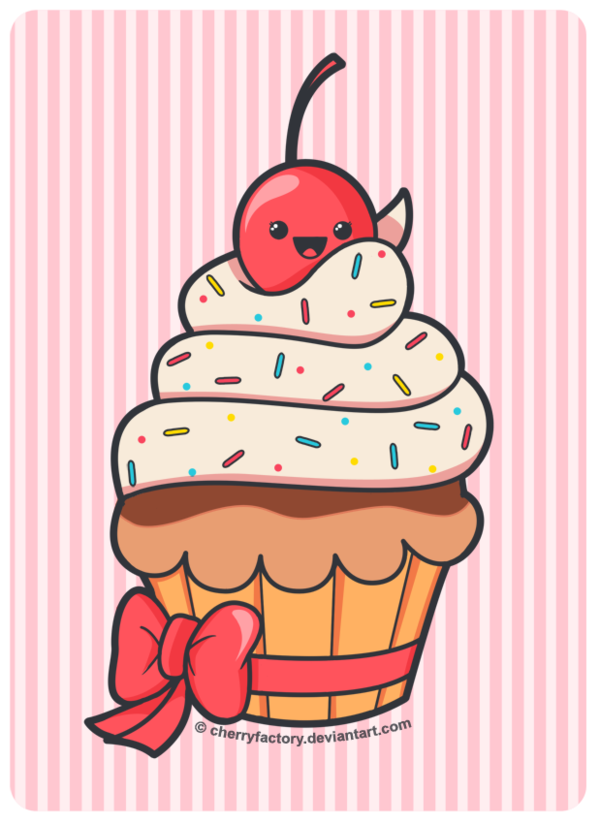 jpg transparent library Cute Cupcake by CherryFactory