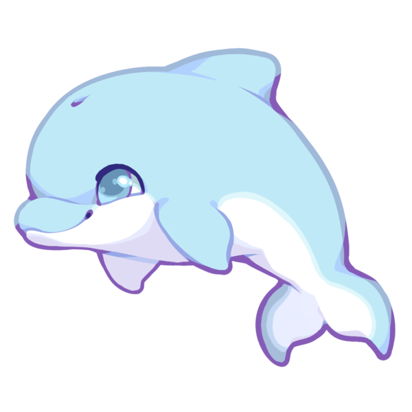 royalty free library Dolphins clipart kawaii