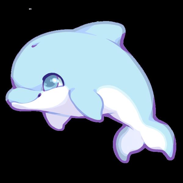 clip art transparent library Dolphins clipart kawaii