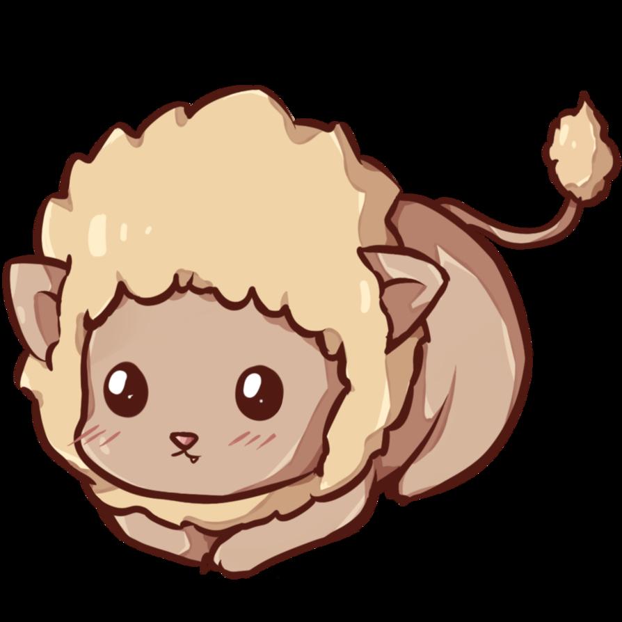 graphic stock By dessineka on deviantart. Transparent lion kawaii