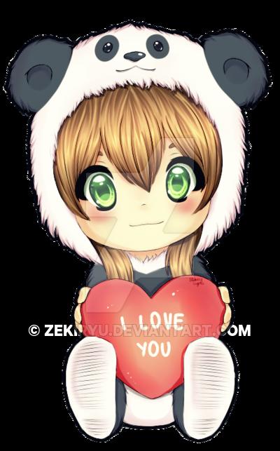free library Cute Panda Love Drawing at GetDrawings