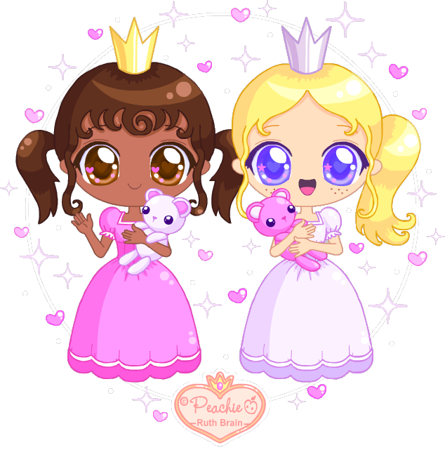 clip royalty free library Drawing princess kawaii cute. Pinky pearly by peachie