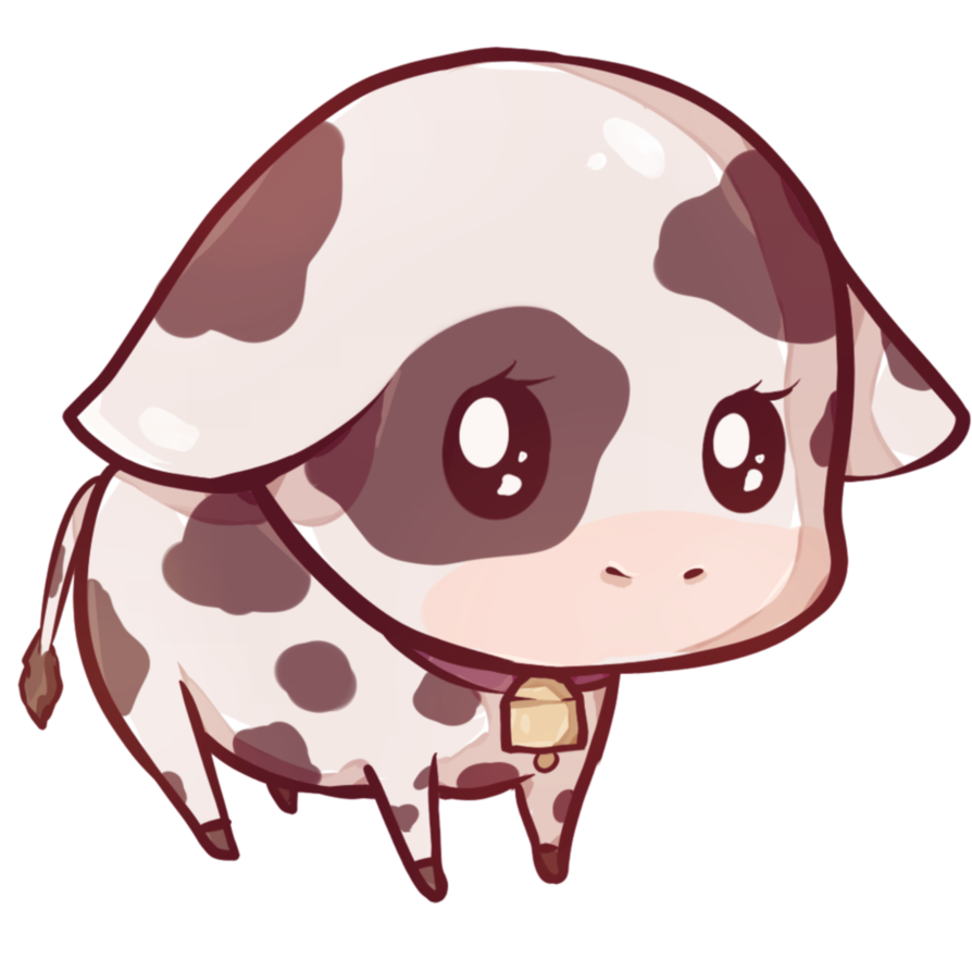 banner royalty free download Cow by dessineka fauna. Drawing kawaii