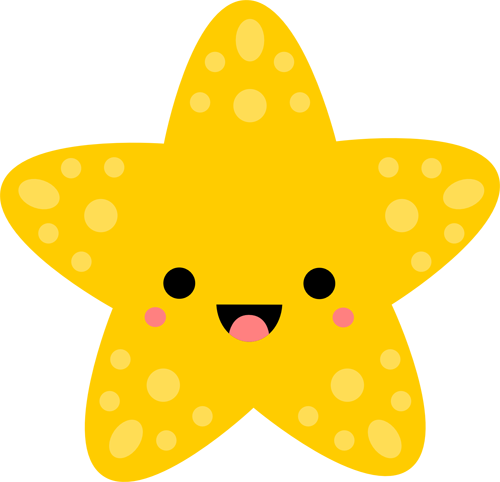 banner black and white download Starfish clipart cute yellow