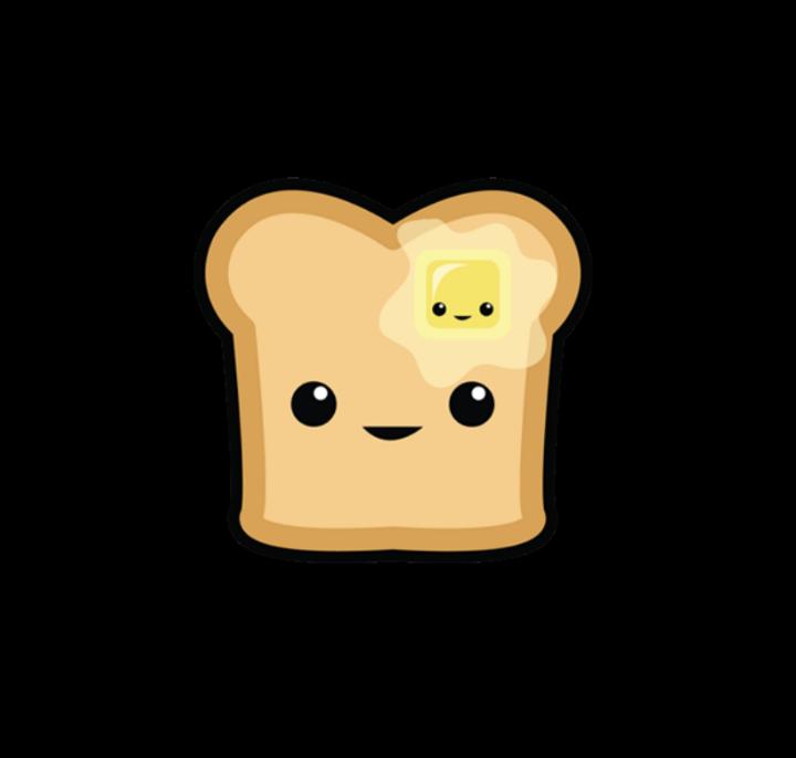 image black and white toastedbread toast cute food kawaii