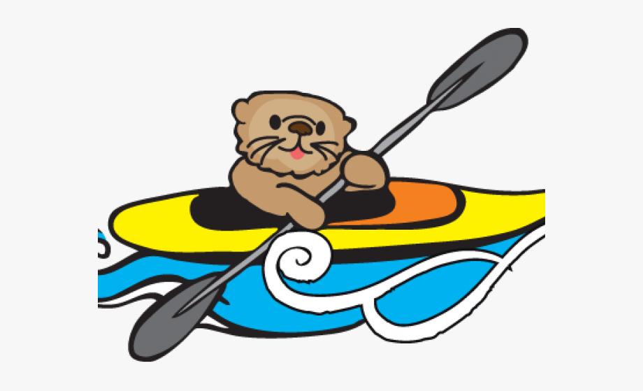 svg black and white download Kayaking clipart. Canoe kayak girl free
