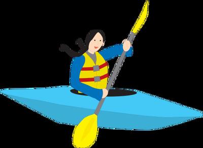 banner royalty free download Kayaking clipart oar. Kayak boating free on.