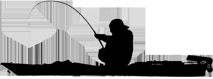 black and white download Kayak fishing silhouette at. Kayaking clipart.