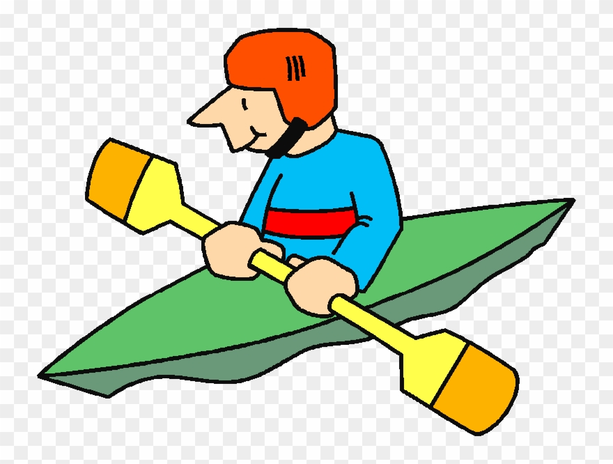 clip black and white library Kayak cartoon png transparent. Kayaking clipart animated.