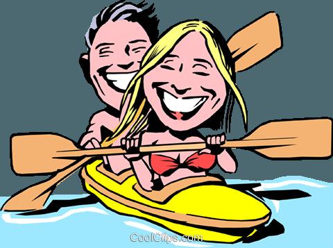 graphic transparent download Kayaking clipart cartoon. Kayak at getdrawings com.