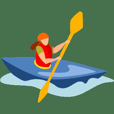 clipart free library Kayaking clipart cartoon. Kayak transparent png images.