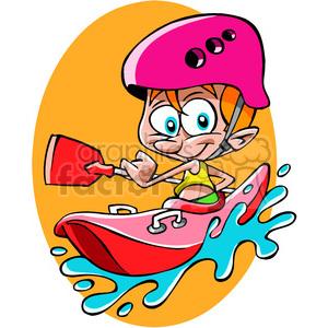 image transparent download Kayaking clipart cartoon. Guy royalty free .