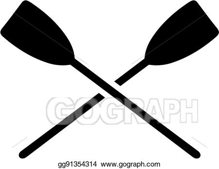 vector library library Kayaking clipart crossed. Vector illustration paddles eps.