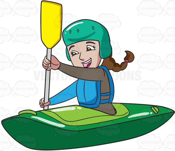jpg free stock Free download best . Kayaking clipart kayak girl.