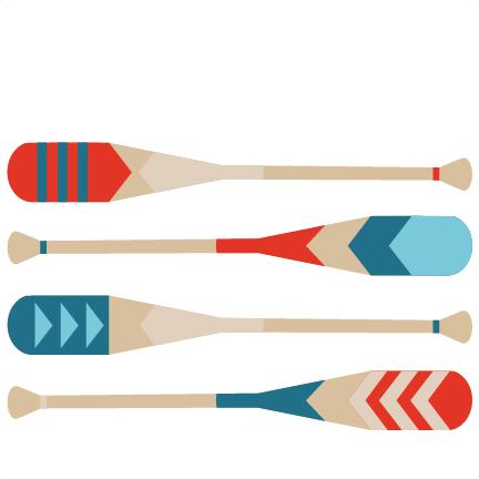 clipart transparent Kayaking clipart oar. Canoe paddle silhouette at