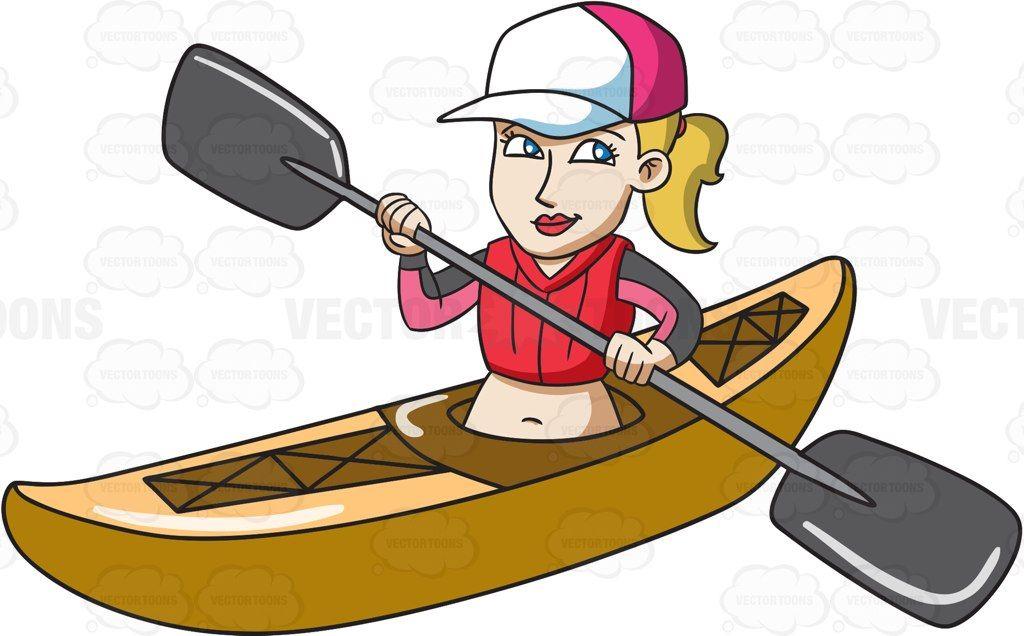 clipart library download Kayaking clipart paddle boat. A woman paddling kayak.