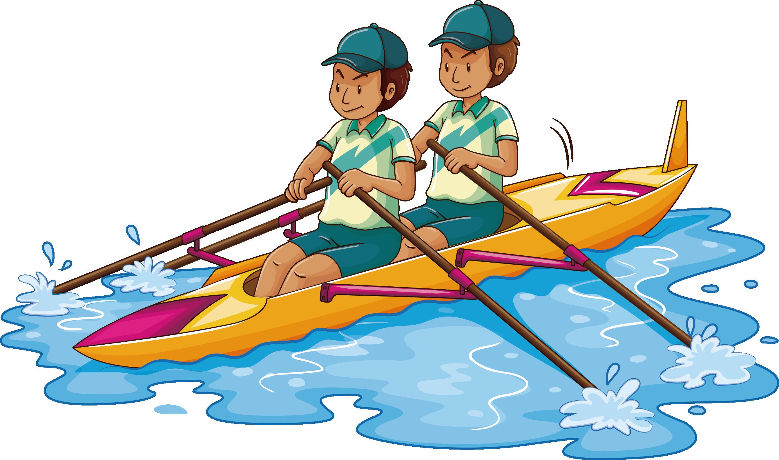 banner royalty free download Kayaking clipart recreation. Rowing kayak clip art.