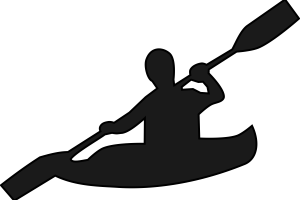 png royalty free download Kayak canoeing free on. Kayaking clipart recreation.