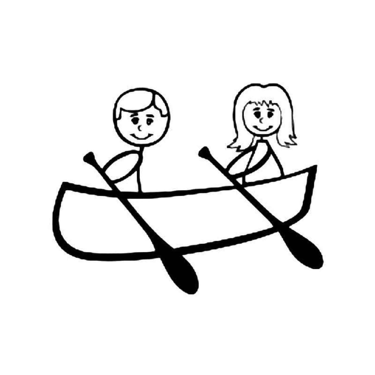 png black and white download Kayak transparent . Kayaking clipart stick figure