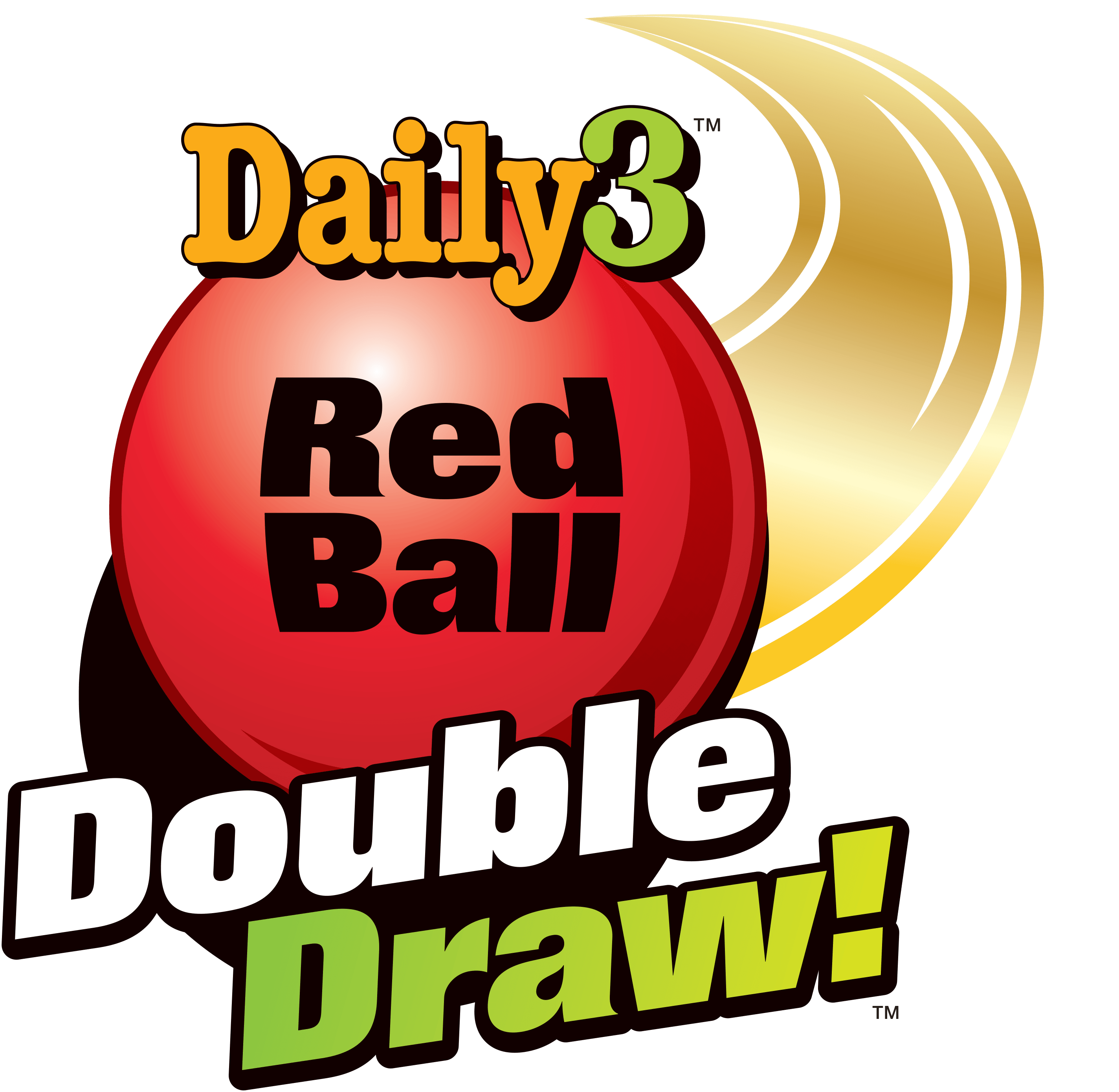 vector royalty free stock Red Ball Double Draw Gives Daily