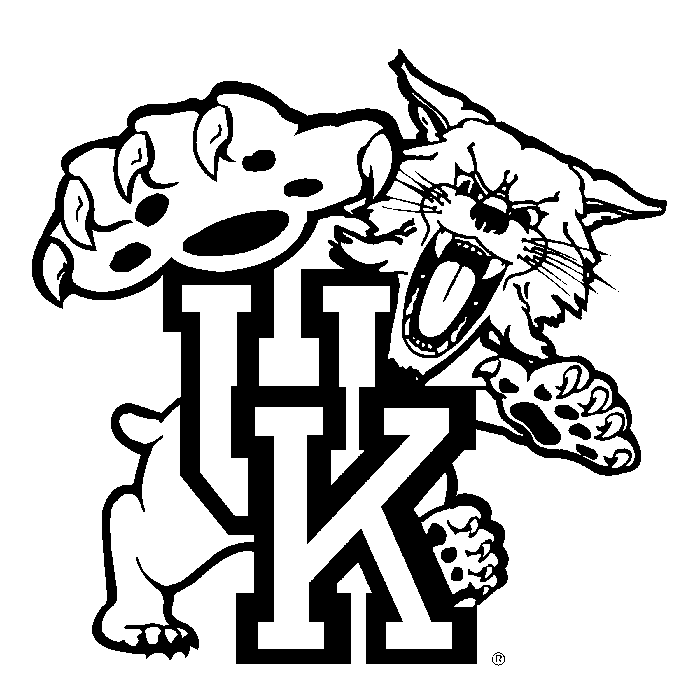 vector freeuse library Kentucky Wildcats Logo PNG Transparent