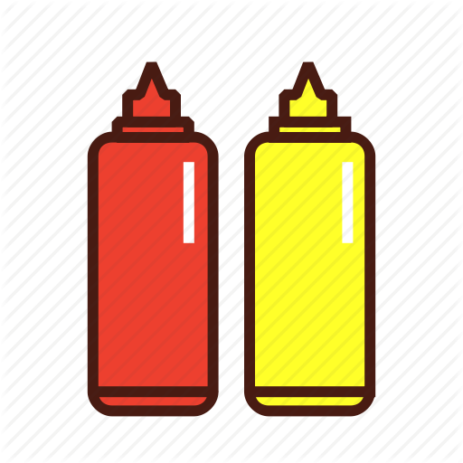 jpg free stock Fast food by janina. Ketchup and mustard clipart