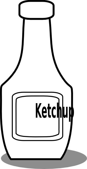 png transparent library Black and white clip. Clipart ketchup