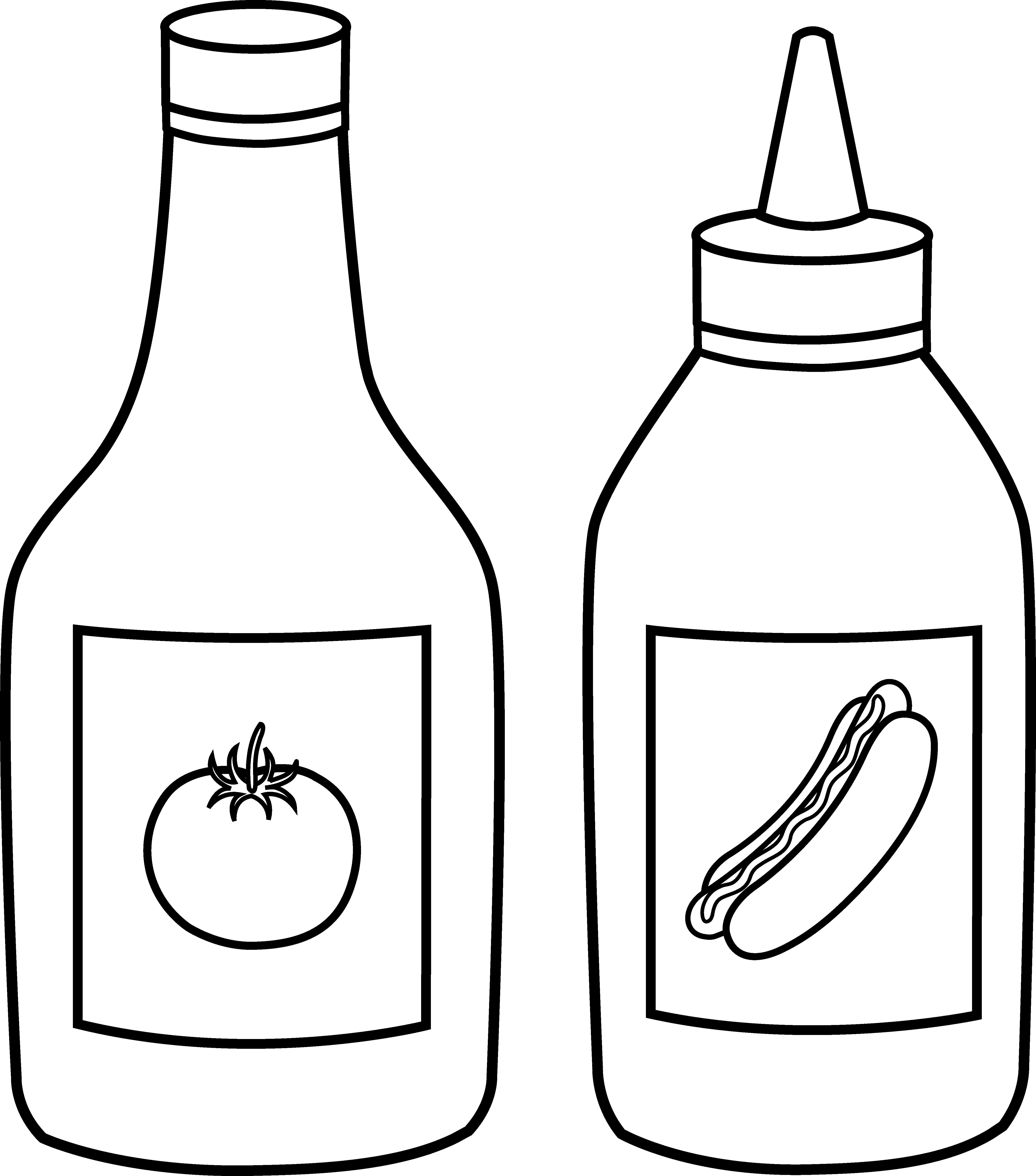 clip art royalty free library Ketchup clipart generic. Clip art frames illustrations.