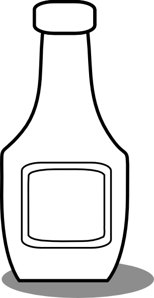 svg freeuse library Ketchup Bottle Black And White Clip Art at Clker