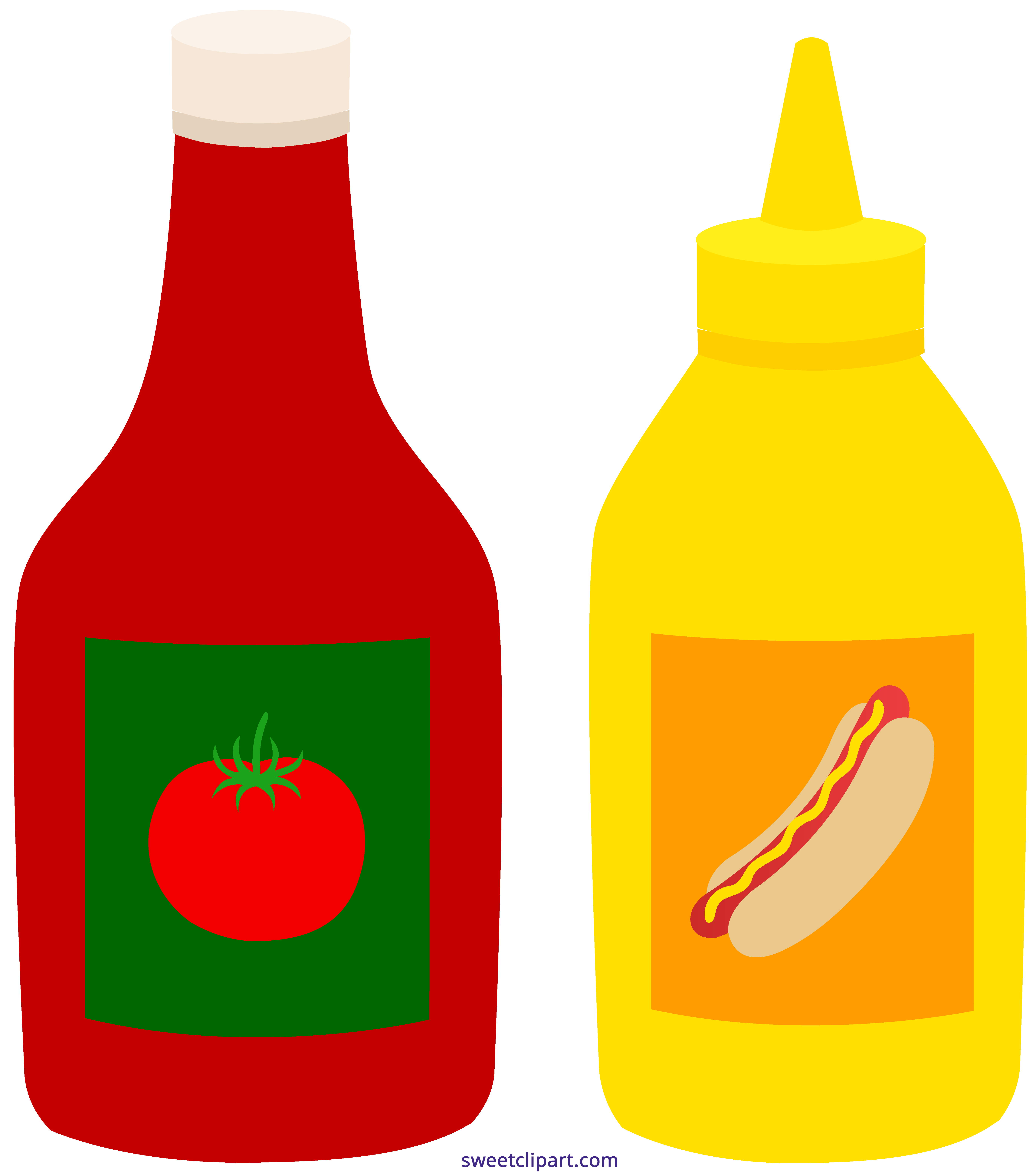 image black and white download Mustard bottles sweet clip. Ketchup clipart