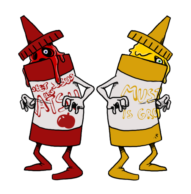 image black and white And by darkburraki on. Ketchup mustard clipart