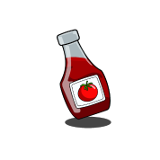 vector Cartoon Ketchup Bottle by mdkgraphics
