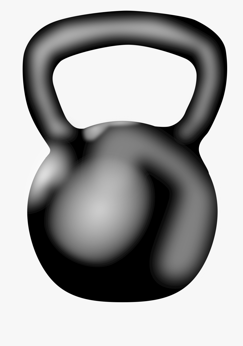 banner black and white library Exercise equipment clip art. Kettlebell clipart.