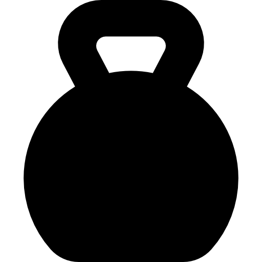 clip art library stock Lifting exercise weight training. Kettlebell silhouette clipart