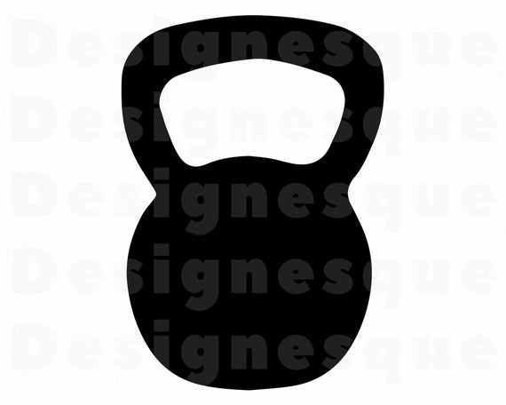 png black and white download Svg weights files for. Kettlebell silhouette clipart