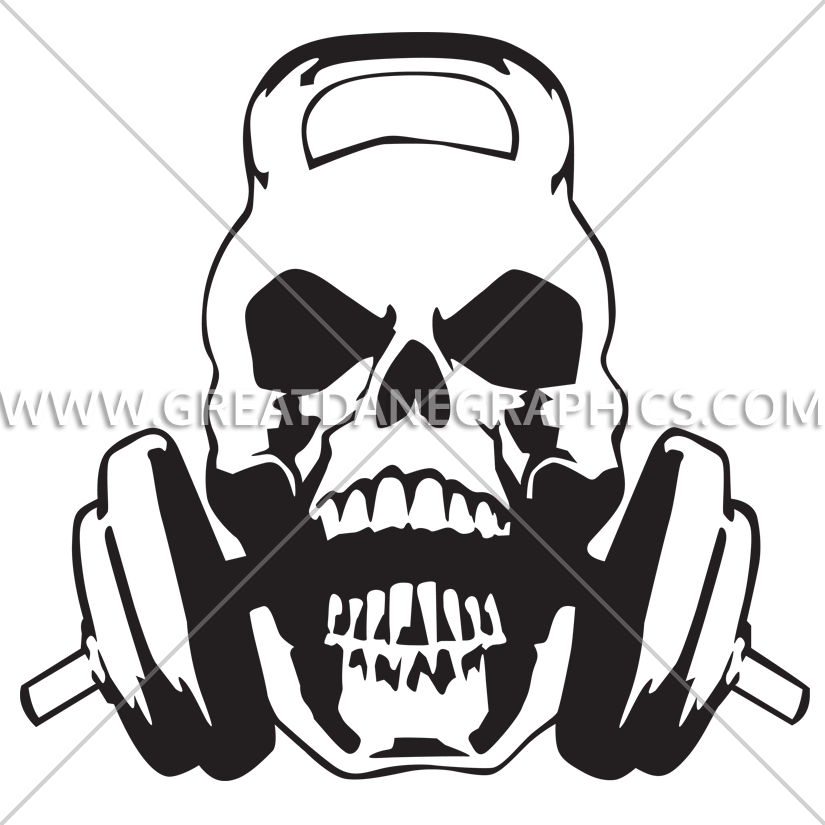 graphic royalty free stock Kettlebell skull clipart. Transparent free