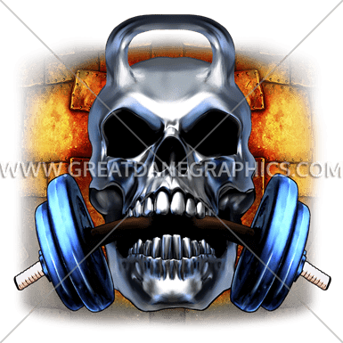 clipart free stock Kettle bell chew production. Kettlebell skull clipart