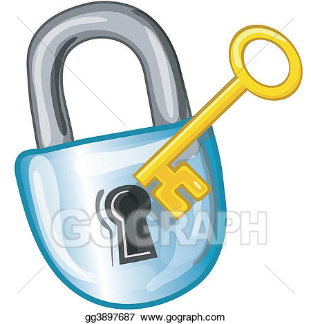graphic black and white library Key and lock clipart. Drawing icon gg gograph